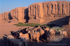 2c - Kish walls, 5th city built on Earth Colony, Ninhursag's mud brick-built city, walls, & temples - houses for the visiting alien giant gods, who came down to Earth from Heaven - Nibiru long, long ago