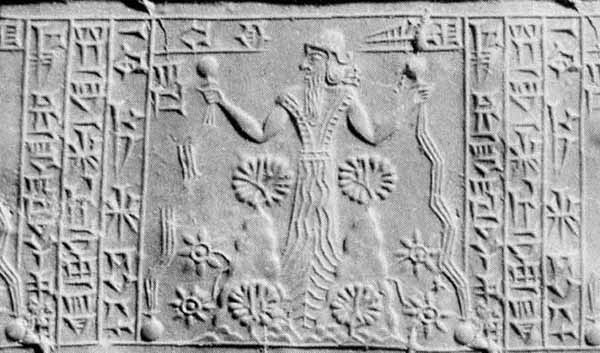 2c - Marduk relief, flowing waters of Babylon, Marduk allowed his people to live in wealth & abundance