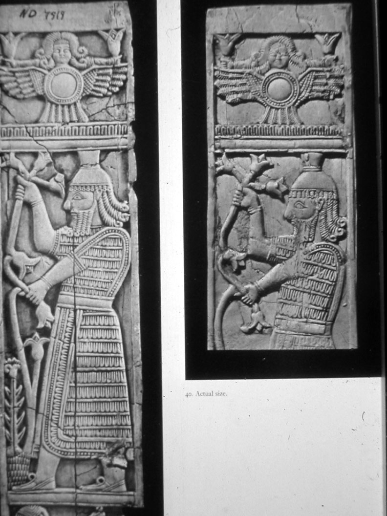 2c - Inanna inside her flying disc illustrated above her giant mixed-breed king, artefact scenes of Inanna hovering above her kings in battles, in parades, holidays, etc., impressing on the earthlings her support for the kings, making their kingships flourish much easier for all involved, a time in our long forgotten past, when the giants were on Earth & walked with mankind