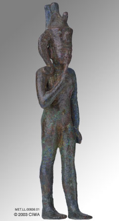 2d - Horus the Child,  miracle son, thanks to Ningishzidda, the last male descendant to Marduk of Enki's side of the gods stationed on Earth Colony