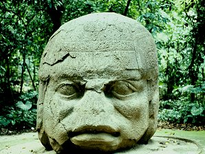 2d - Olmec head artefact, possibly a king's head, hundreds of Olmec heads have been discovered so far, kings carved in succession, Olmec's are black Africans shipped to the Yucatan by Ningishzidda due to his expulsion from Egypt by his brother Marduk, the 1st earthlings to inhabit So. America, as dislpayed by Sitchin in the Mexico City Museum