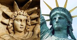 2da - Enlil's 7-pointed star used in Masonic code crowning the Statue of Liberty, Masons continue to worship the gods