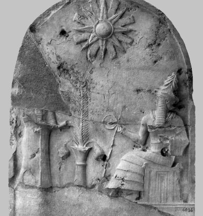 2e - Babylonian artefact of 2,000 B.C., Utu - Shamash - Ba'al - Allah, many names have been given to Utu, through the tens of thousands of years since he was born here on Earth Colony, in Mesopotamia, Utu was the sun god of Mesopotamia, the sun was his symbol there, it was later changed when nuclear fallout forced evacuations of Mesopotamia, Nannar fell sick & retired out of view, while his son Utu assumed the moon crescent symbol, which is still widely used to this day