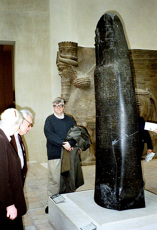 "2f - Code of Hammurabi stela, 2,250 B.C., artefact of the law code given to Hammurabi by giant alien god Utu, evidence of ancient giant alien contact with mankind, the Biblical ""Heroes of old, men of renown"", the ""mighty men"", the offspring of the giant alien gods on Earth Colony"