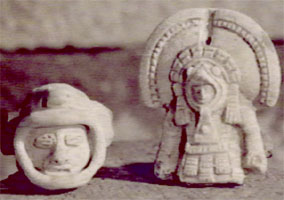 2g - Equador model artefacts of space-suited alien travelers to Earth, alien giants from outer space are seen & recorded in man's historical records everywhere