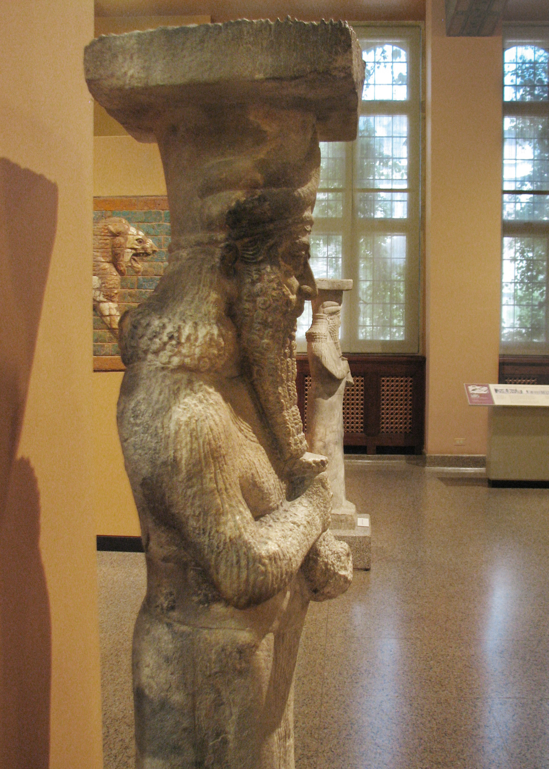 2gg - life-sized statue of the giant alien god Nabu, standimg in the museum in Iraq, but now destroyed by Radical Islam, fearing common men & women might begin to understand the ancient evidence, artefacts that directly conflicts with, & widely contradicts primitive 7th century teachings of Islam, their power-brokers fear massive loss of credibility, & loss of control over awakened followers