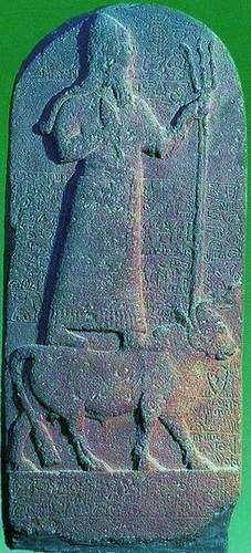 """2h - Adad atop a bull - Taurus, Enlil's 3rd son, god of thunder, """"the prince, the inundator of hostile shores"""", he """"rides triumphant on the air"""" in his sky-ship, Adad is among the 1st generation of giant alien gods born on Earth Colony, tens of thousands of years ago, when the sons of god(s) - Anu, came down from Heaven - planet Nibiru, & established themselves on Earth Colony"""