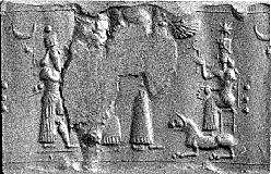 2j - Ninurta, 2-3 unidentified, & spouse Bau with her guard dog, Ninurta is father Enlil's enforcer, father Enlil is the Earth Colony Commander & next in line to be king of Heaven & Earth