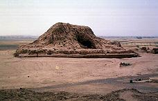 2k - Assur the city, Ashur's mud brick-built house - temple in his city of Assur, the city was established much later below his residence, assuring his safety from earthlings, & giving him command from above, the high-ground, the mountaintop of god, where Ashur could lift-off & land in glory to earthlings without any problems
