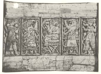 2k - unidentified goddess, Apkulla, Bau, Apkulla, & unidentified goddess, ivory carving artefact found in Nineveh, the Assyrian city capitol, Biblical Jona was spit out of a whale - submarine onto the shores of Nineveh by Yahweh