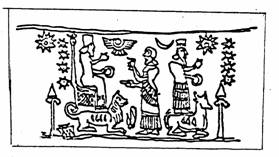"""2l - Bau, sister Ninhursag & spouse Ninurta, Ninurta is the """"double seed"""" son to Ninhursag & her 1/2 brother Enlil, Bau is the daughter to Anu, King of Heaven & Earth, Ninurta is 2nd in line to kingship after Enlil"""