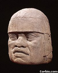 2q - Olmec head artefact, possibly a king's head, hundreds of Olmec heads have been discovered so far, kings carved in succession, Olmec's are black Africans shipped to the Yucatan by Ningishzidda due to his expulsion from Egypt by his brother Marduk, the 1st earthlings to inhabit So. America, as dislpayed by Sitchin in the Mexico City Museum