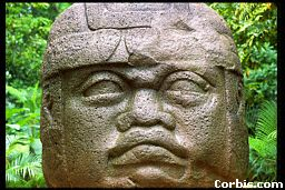 2t - Olmec head artefact, possibly a king's head, hundreds of Olmec heads have been discovered so far, kings carved in succession, Olmec's are black Africans shipped to the Yucatan by Ningishzidda due to his expulsion from Egypt by his brother Marduk, the 1st earthlings to inhabit So. America, as dislpayed by Sitchin in the Mexico City Museum
