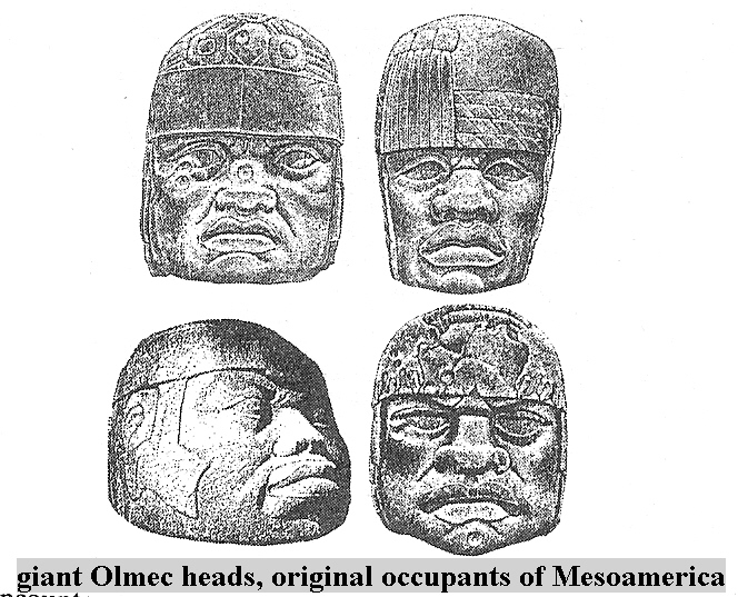 2v - Olmec head artefact, possibly a king's head, hundreds of Olmec heads have been discovered so far, kings carved in succession, Olmec's are black Africans shipped to the Yucatan by Ningishzidda due to his expulsion from Egypt by his brother Marduk, the 1st earthlings to inhabit So. America, as dislpayed by Sitchin in the Mexico City Museum
