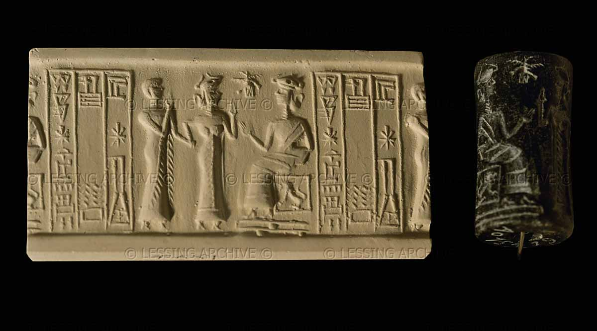 Ur-Nanshe is presented to goddess Ningal, Inanna espoused many of the mixed-breed kings, here she presents one to her mother Ningal, spouse to Nannar in Ur