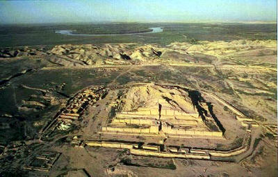 "3 - Marduk's temple within Babylon ruins, when the giant alien gods came down from Heaven - planet Nibiru, established Mesopotamia, created ""modern man in their image, & in their likeness, established themselves as gods, & trained man to relieve them of their burdens of doing the multitudes of work upon their Earth Colony"