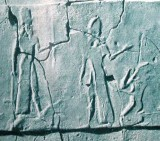 """3 - Nabu & spouse Tashmetum with an earthling on his knees, scene from a time in our long forgotten past, when the sons of god(s) came down to Earth, colonized it as their own, fashioned """"modern man"""" into their image, & into their likeness, to create replacement workers for the gods, a time when the gods walked & talked with earthlings, & then had sex with the daughters of men, producing giant mixed-breed offspring who were bigger, stronger, faster, smarter, & lived much longer than earthlings, they were the Biblical """"Heroes of old, men of renown"""", the """"mighty men"""", the """"giants"""", the 1st kings on earth, SEE SUMERIAN KINGS LIST TEXT ON GODS PAGES UNDER KINGS"""
