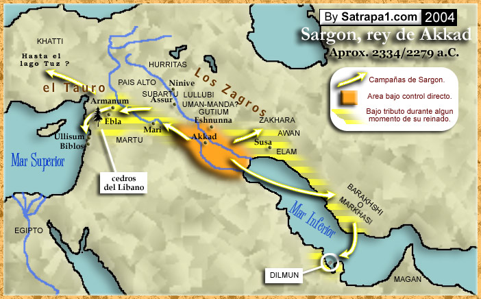 "3a - Sargon the Great's Empire of Akkad, early cities of alien gods & men, cities naturally formed at the feet of the brick-built ziggurats, the houses where giant alien gods lived, & from where they directed mankind on Earth, by their use of their giant mixed-breeds, the offspring of gods & daughters of men, they were bigger, stronger, smarter, & lived longer than the earthlings, a perfect go-between for the gods & early ""modern man"""