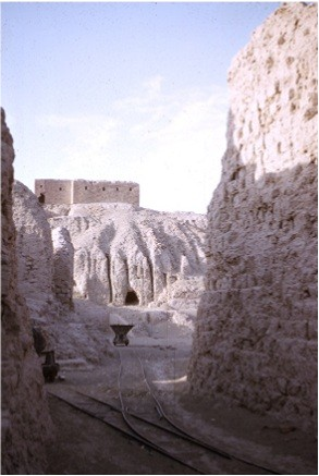"""3ac - Nippur from ground level, Enlil's city, made of mud bricks that have lasted many thousands of years, known as """"the Great Mountain"""", referring to Enlil"""