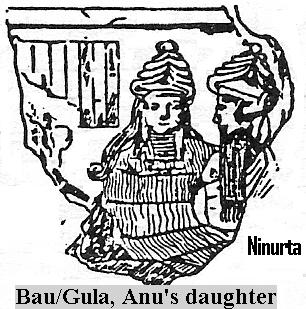 "3b - Bau - Gula & Ninurta, beloved daughter of King Anu, medical doctor of the gods & the ""black-headed"" earthlings"