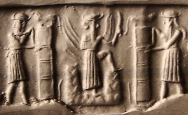 """3b - Utu with alien weapons of powerful brilliance, Utu is one of the sons of god(s) who came down to Earth & had sex with the daughters of men, his & other gods offspring became the giant """"heroes of old, men of renown"""", the 1st kings on Earth, such as Utu's mixed-breed son-king Meshkiaggasher of Uruk, who ruled amazingly for 325 years, just like the Biblical hero Enoch & others"""