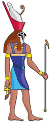 3c - Horus, the protector of Egypt after his father Osiris was murdered, Egypt produced a trinity of gods with father Osiris, virgin mother Isis, & the son of god Horus, this type of trinity of gods is found many times in different civilizations