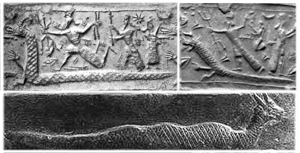 3ca - Marduk - Nibiru battles Tiamat - Earth, Babylonian Creation Story, SEE TEXTS, planet Tiamat is cracked into pieces by space collision with Nibiru's moons, smashing into bits 1/2 of Tiamat, forming the Asteroid Belt & causing eradic orbiting asteroids, while the other 1/2 of Tiamat is knocked from outside orbiting Mars to orbiting inside of Mars, settling down into a stable orbit, filling in the cracks with water, & forming into becoming the Earth