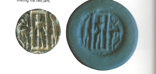 3d - Enki in Dilmun, seal artefact of a time when those lands were pristine, untouched by giant alien or Earthling hands