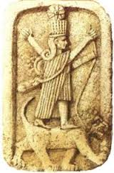 3d - Inanna & her 8-pointed star symbol, standing upon her zodiac symbol, Leo the Lion, artefacts of the alien gods are shamefully being destroyed by Radical Islam, attempting to eliminate any historical evidence that directly contradicts their 7th century A.D. taechings of Islam