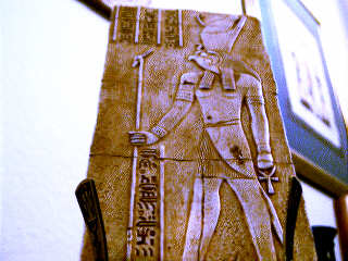 3e - Horus - miracle son of Isis & deceased Osiris, Egypy was left to the son of Isis, Horus, the one who executed his uncle Seth for murdering his father, losing an eye in the skirmish