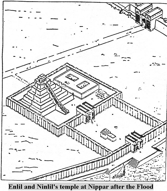3f - Enlil and Ninlil's rebuilt temple in Nippar, alien gods Command Center on Earth Colony