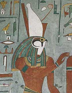 3f - Horus, Gibil fashioned a gift of Winged Sandals for his grand-nephew Horus, son to Ashur - Osiris - Orien, Gibil gives a flying disc to Horus for use to avenge his father Osiris' murder, killed by his uncle Seth before he was born