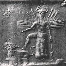 3f - winged Inanna & her lion - Leo