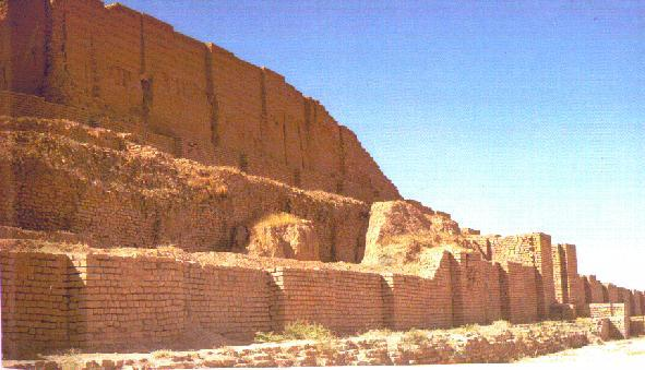 "3g - Nannar, Biblical ""El"", mud brick-built mountain ziggourat in Ur, fortified house of Nannar in his city of Ur, artefacts from Ur are in the thousands, most in good shape, showing a long history of thousands of years when the alien giant gods walked & talked with mankind on Earth"