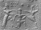 3i - 8-pointed star above Gilgamesh, Enlil's 7th of planets symbol of Earth & Anu's 8-pointed star symbol of Venus, later he gave his 8-pointed star symbol to Inanna, goddess of love