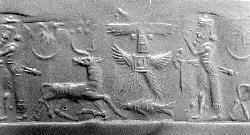 3j - Utu has his pilot fly Etana's ascent to Heaven, by means of alien technology the king of Kish, Etana, is rocketed into space, similiar to Biblical Enoch travelling 7 steps / planets away to Heaven & back
