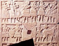 3j - offering scene, 2,600-2,500 B.C., when the giants were upon the Earth, all under the command at Enlil's choosing