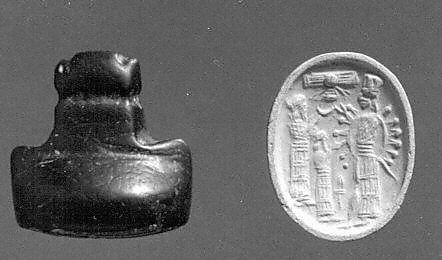 3v - 2 unidentified giants, & Inanna - Ishtar on ancient seal