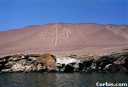 4 - Adad's symbol carved on the side of mountain on the Paracas Peninsula in Peru, alien weapon of the thunder god Adad, 1/2 brother to Ninurta, & brother to Nannar, the 3 main sons of Enlil