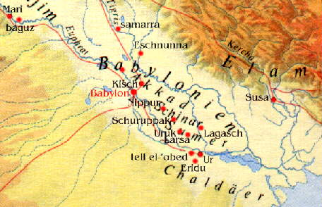 4 - map with Shuruppak, home of Noah, Ninlil's city, one of the 1st cities on Earth Colony