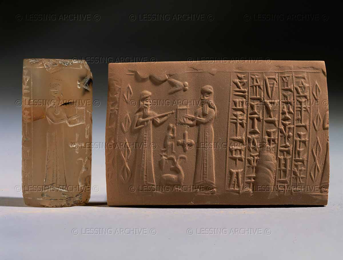 4 - scribe Nabu & his father Marduk discuss plans to defend Enki's side of King Anu's family