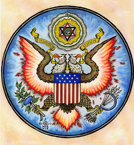4 - USA, Double-Headed Eagle of Ninurta, Masons keep these Mesopotamian symbols of gods & others current, hiding them in plain sight, in governments, in art, architecture, corps. logos, etc.