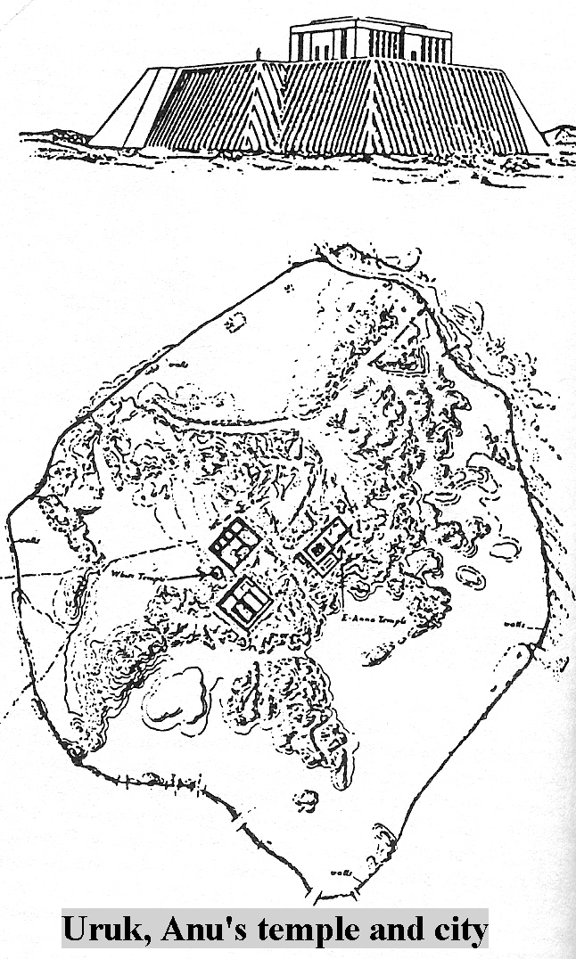 4 - Uruk - Erech, Anu's city map, drawn from an areal view in ancient times