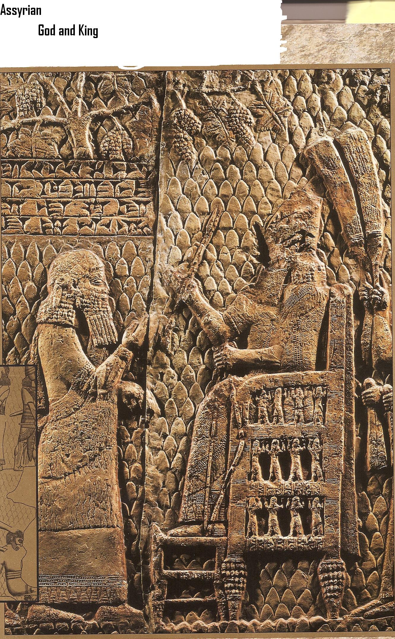 4a - Assyrian artefact of giant alien god Ashur seated, with an unidentified giant mixed-breed king standing before him, waiting for Ashur's instructions, ancient artefacts tell a clear story of earthling involvement with giant aliens, who gave laws, religion, agriculture, astronomy, education, medical science, & everything else to mankind, today the list would be electricity, silicon chips, night vision, space technology, kevlar, nuclear technology, & everything else mankind has come to learn from the gods