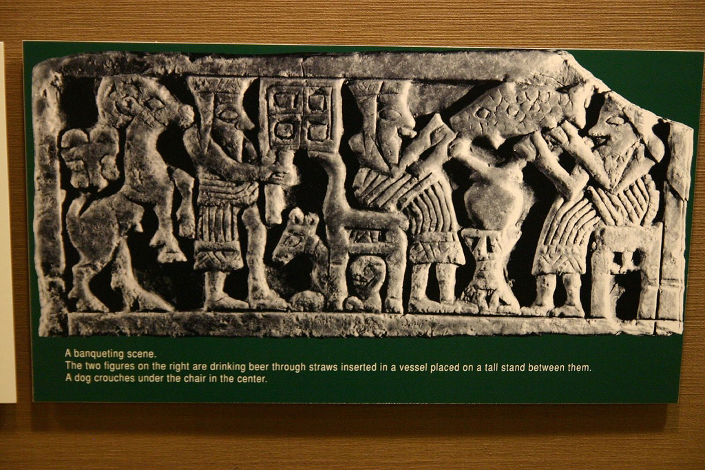4a - beer-maker for the gods in Sumer, early mixed-breed kings of Sumer did sometimes drink with the gods, artefacts of the giant alien gods are shamefully being destroyed by Radical Islam, attempting to eliminate evidence from our long forgotten past, that directly contradicts the 7th century A.D. doctrines of Islam