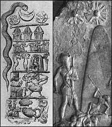 4b - Ancient Zodiac, giant with a landed shem-flying capsule, Nannar's moon crescent, ancient artefacts of the gods & giant kings are shamefully being destroyed by Radical Islam, attempting to eliminate historical evidence of our past contradictory to the 7th century teachings of their prophet