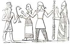 """4b - ancient Assyrian artefact of Martu, Ninhursag, Ashur, & mixed-breed giant king Ashurbanipal, a time in our long forgotten past, when the sons of god(s) had sex with the daughters of men, producing offspring who became the Biblical """"Heroes of old, men of renown"""", the """"mighty men"""", the 1st kings on Earth, a perfect go-between for the alien gods & earthlings"""