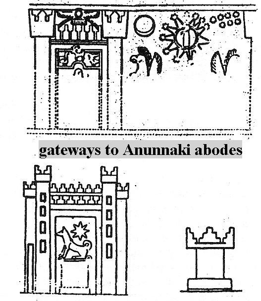 4b - Gates of Heaven, Anu's abode on planet Nibiru, way before St. Peter was said to be at the Gates of Heaven, there stood the princes to Anu, representing the royal family, many symbols of the gods are depicted on this artefact