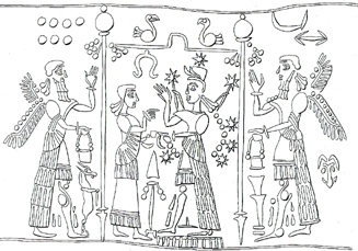 4b - Apkulla pilots, Ninhursag & Ishtar-Inanna, the older wiser Ninhursag cautions Inanna on her next moves
