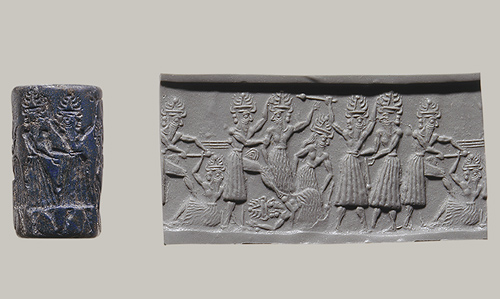 4b - artefact from Assur depicting the gods battling other gods, the 2nd & 3rd generations of giant alien gods on Earth Colony, descendants of Enlil on Earth vrs. descendants of Enki's on Earth, squabbling over just about everything, as each prince desired their own authority & power over the worker earthlings, their squabbles became extremely lethal for earthlings who were loyal or not